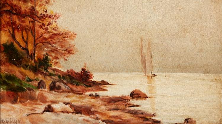 Artwork by Robert Heard Whale,  Princess Point, Hamilton