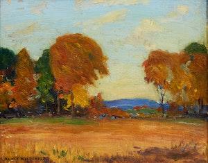 Artwork by Manly Edward MacDonald, Autumn Landscape