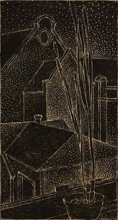 Artwork by Lionel LeMoine FitzGerald,  View from Studio Window with Iris