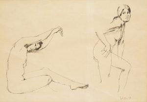 Artwork by Thomas Sherlock Hodgson, Nude Studies
