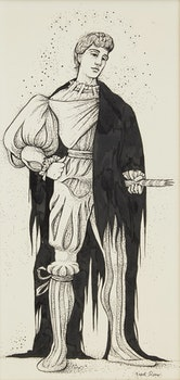 Artwork by Fred Ross, Shakespearean Character