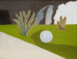 Artwork by Toni Onley, Blue Ball