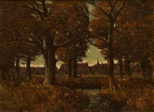 Artwork by Homer Ransford Watson, Forest Landscape