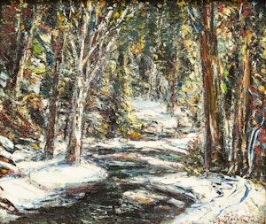 Artwork by Joseph Giunta, Le Ruisseau Dégel, Laurentides, Quebec
