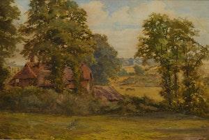 Artwork by Frederick Arthur Verner, Country Landscape
