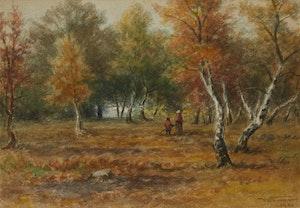 Artwork by Frederick Arthur Verner, Autumn Stroll
