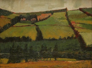 Artwork by Alan Caswell Collier, Rolling Farmland, Rich and Somber, Brackley, P.E.I.