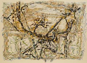 Artwork by Jean Paul Riopelle, Caribou (1976)