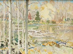 Artwork by George Franklin Arbuckle, Brewery Bay, Orillia, Ontario
