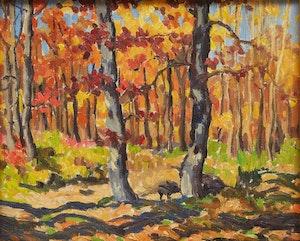 Artwork by Randolph Stanley Hewton, Autumn Forest