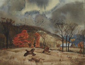 Artwork by Charles Fraser Comfort, Autumn, Haliburton