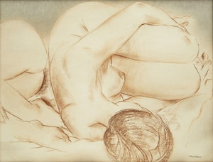 Artwork by Louis Muhlstock, Nude