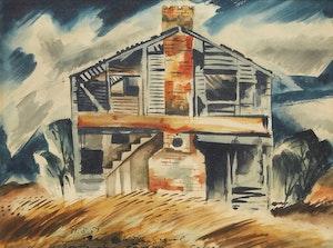 Artwork by Carl Fellman Schaefer, Abandoned School