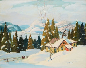Artwork by Graham Noble Norwell, Cabin in Winter