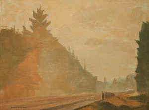 Artwork by Alan Caswell Collier, Misty October Morn