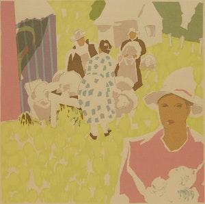 Artwork by André Charles Bieler, La Laine des Moutons