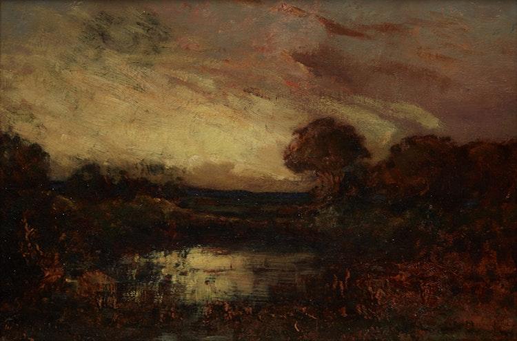 Artwork by John A. Hammond,  Landscape at Dusk