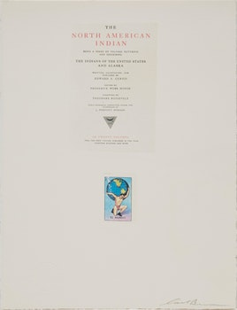Artwork by Carl Beam, The North American Indian Act
