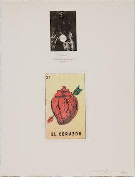 Artwork by Carl Beam, El Corazon