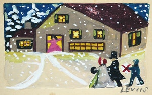 Artwork by Maud Lewis, Carolers in Winter