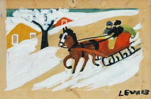 Artwork by Maud Lewis, Sleigh Ride