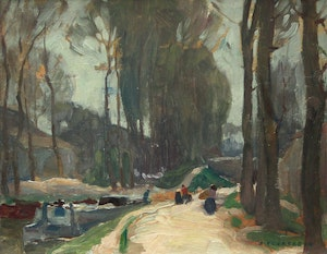 Artwork by Alexander Young Jackson, Canal Near Episy, France (1909)