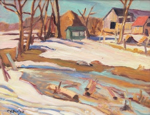 Artwork by Ralph Wallace Burton, From Burritts Rapids, Ontario