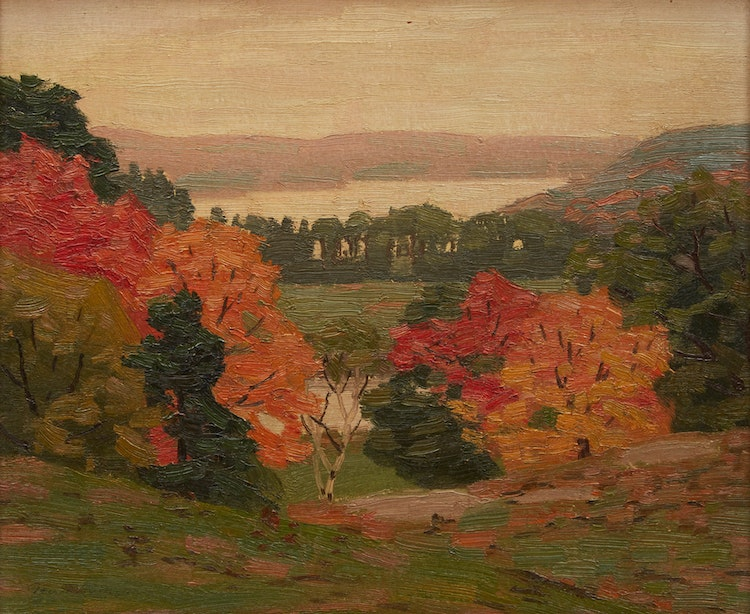 Artwork by George Thomson,  HIlls of Carnarvon, Haliburton