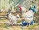 Thumbnail of Artwork by Elizabeth Annie McGillivray Knowles,  Rooster and Hen