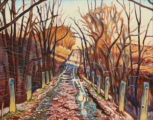 Artwork by Clark Holmes McDougall, Lane Into Locke's Springs in Late March, 1950