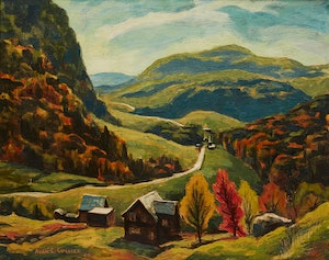 Artwork by Alan Caswell Collier, The Road to St.Sauveur, Que