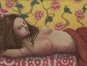 Artwork by Louise Scott, Reclined Nude