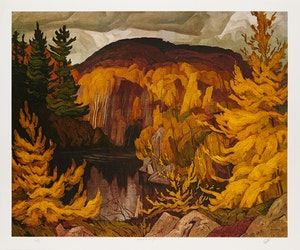 Artwork by Alfred Joseph Casson, In the Islands, Georgian Bay; Sunshine After Rain; Farm House; Autumn on the York River