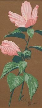 Artwork by Alfred Joseph Casson, Moneywort, Swamp Rose Mallow