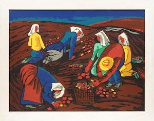 Artwork by Fritz Brandtner, Potato Pickers