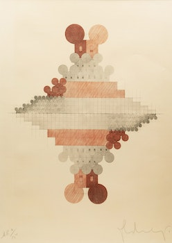 Artwork by Claes Oldenberg, Geometric Mouse Pyramid Double D