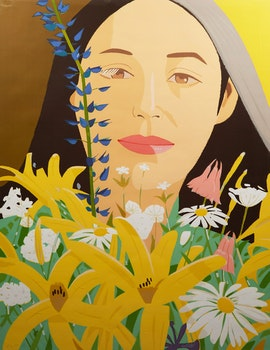 Artwork by Alex Katz, Ada with Flowers