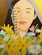 Thumbnail of Artwork by Alex Katz,  Ada with Flowers