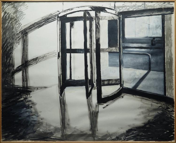Artwork by Medrie MacPhee,  Revolving Door