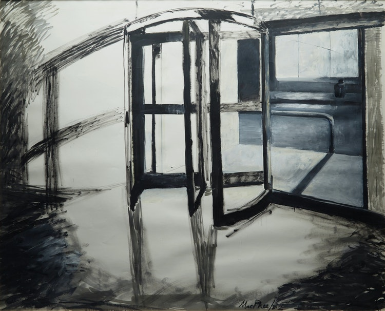 Artwork by Medrie MacPhee,  Revolving Door