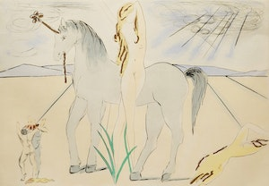 Artwork by Salvador Dali, Lady Godiva