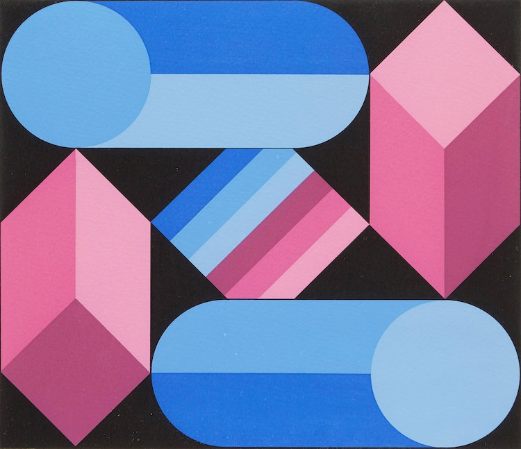 Artwork by Victor Vasarely,  Geometric Abstraction
