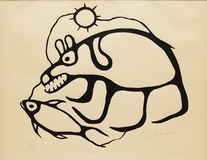 Artwork by Norval Morrisseau, Cycle