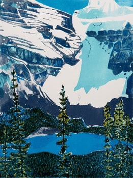 Artwork by John Harold Thomas Snow, Moraine Lake - Banff National Park