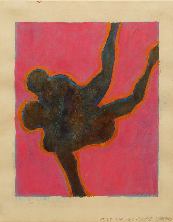 Artwork by John Graham Coughtry,  Study for Two Figure Series