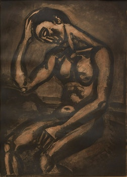 Artwork by Georges Rouault, Solitaire, en cette vie d'embûches et de malices (from the Miserere portfolio)
