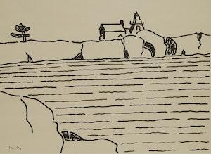 Artwork by Barker Fairley, Shoreline Landscape