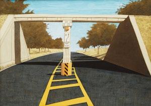 Artwork by Gerald Zeldin, The Bridge #5
