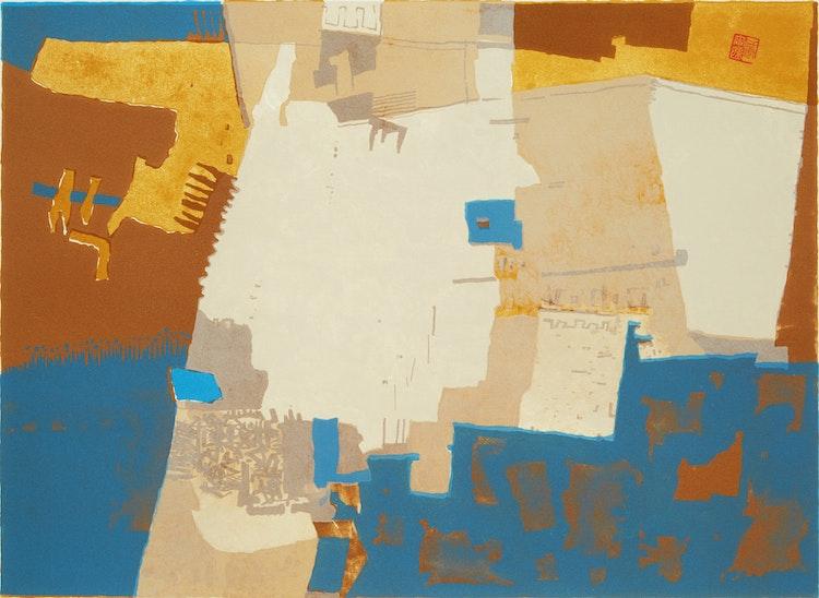 Artwork by Ronald York Wilson,  Mayan