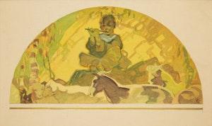 Artwork by John Ford Clymer, Study for Mural